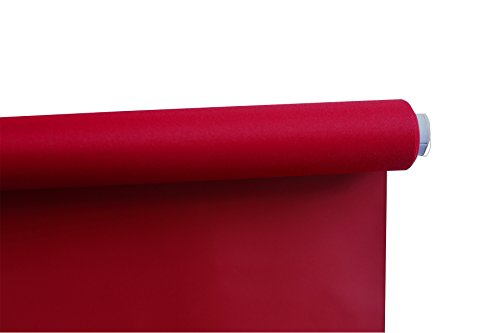 Beryhome Cristal Cordless Blackout Roller Shades/Blinds. Ideal For Office, Hotel, Bedroom, Kitchen, Kid's Room Window Decor. Size: Width 25''x Height 68'' inches. Size: Red. (W25''xH68'', Red) by Beryhome (Image #1)