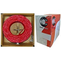 QualConnectTM Plenum Fire Alarm / Security Cable, Red, 18/2 (18 AWG 2 Conductor), Solid, FPLP, Pullbox, 1000 ft