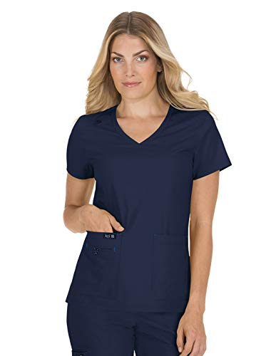 KOI Basics 373 Women's Becca Scrub Top Heather Grey XXS ()