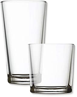Circleware 44088 Spirit Huge 16-Piece, 8-15.7 oz & 8-12.5 oz, Set of Highball Tumbler Drinking Glasses and Whiskey Cups, Home Party Glassware for Water Beer Ice Tea Juice Beverages, Simple (B013MA46C2) | Amazon price tracker / tracking, Amazon price history charts, Amazon price watches, Amazon price drop alerts
