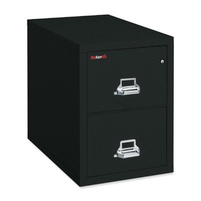 FireKing 42131CBL 20-3/4-Inch by 31-Inch Insulated 4-Drawer Vertical Legal File, Black