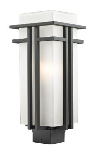 Z-Lite 550PHB-ORBZ Outdoor Post Light with Oil Rubbed Bronze Finish and Glass, Matte (Abbey Post Lantern)