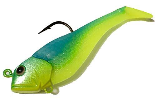 EliasVFishing Mini Mack - Ocean Jigging, Lake Trout, Weakfish, Flounder, Redfish Lure (2 Pack) (Nuclear)