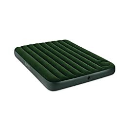 Intex Downy Airbed with Built-in Foot Pump, Queen, Green