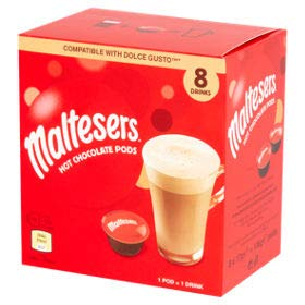 Maltesers 8 Hot Chocolate Pods. Dolce Gusto Compatible 8x17g (Dolce Gusto Coffee Premier Life)