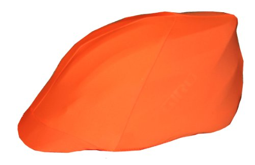 Safety Orange Bicycle Helmet Cover