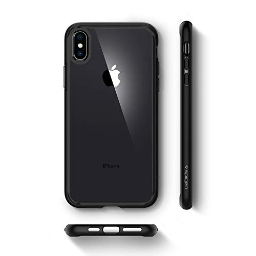 Spigen Ultra Hybrid iPhone X Case with Air Cushion Technology and Hybrid Drop Protection for Apple iPhone X (2017) – Matte Black