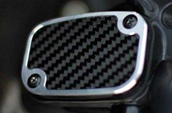 Precision Billet Grand Prix Upper Master Cylinder Cover - Carbon Black HD-GP-UBRAKE-B