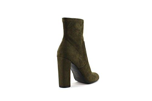 Steve Madden Editt, Zapatos de Tacón con Punta Cerrada para Mujer, Olive Verde (Olive Micro)