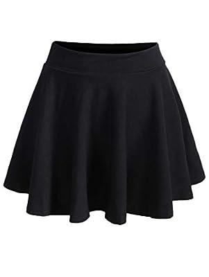 SheIn Women's Basic Versatile Casual Stretchy Waist Flared Mini Skater Skirt
