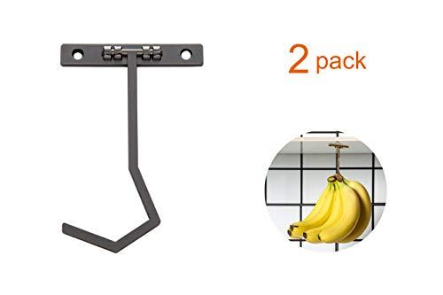 - Metal Banana Hanger - Under Cabinet Hook for Bananas Spatula or Slices. Keep Banana Fresh (Gun Color) X 2 Pack