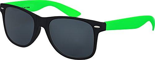 Balinco Hochwertige UV400 CAT 3 CE Nerd Sonnenbrille matte Rubber Retro Vintage Unisex Brille mit Federscharnier für Herren und Damen - 100 verschiedene Farben/Modelle wählbar