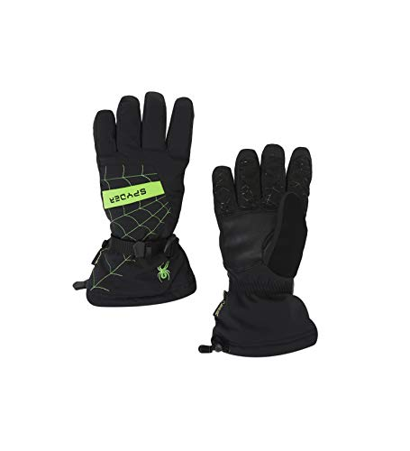 Spyder Men's Overweb Gore-tex Ski Glove, Black/Fresh, Large