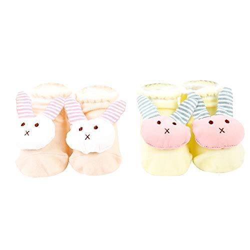 Pachoochi Baby Bunny Foot Rattle Socks, Fun Toy Bootie, Newborn Size 0-6 Months