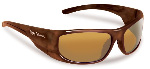 Flying Fisherman Cape Horn Polarized Sunglasses (Shiny Tortoise Frame, Amber - Sunglasses Polarized Amber