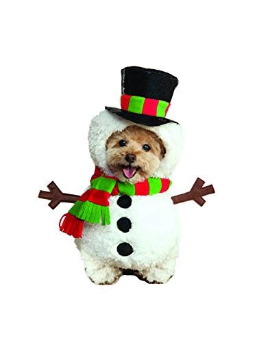 Rubie's Walking Snowman Pet Costume, Small -