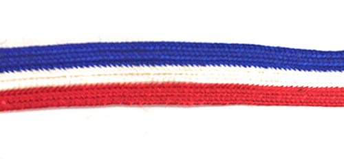 Weave Middy Braid Red/White/Blue Trims 3/8