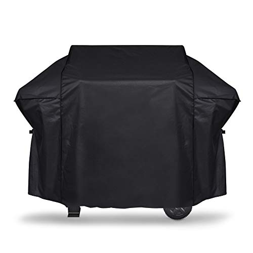 iCOVER Gas Grill Cover-58 inch 600D Canvas Waterproof Fade Resistant Heavy Duty Barbeque BBQ Grill Cover Sized for Weber,Char Broil,Holland, Jenn Air,Brinkmann.G21653 (Covers Grill Winter)