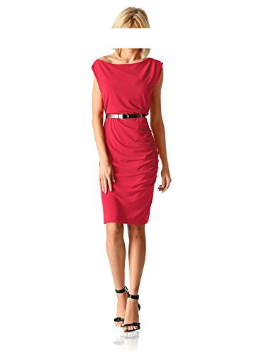 Designer 38 DINI Größe Jerseykleid PATRIZIA tomatenrot YTqwaZ