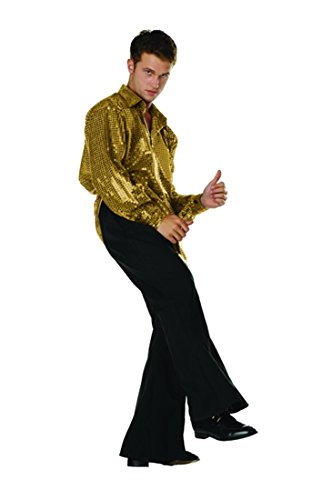 70s Disco Inferno - 70s Sequin Gold,Plus (44-48) ()