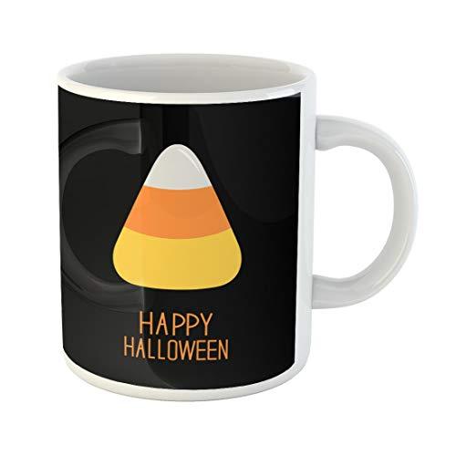 Semtomn Funny Coffee Mug Orange Cartoon Candy Corn