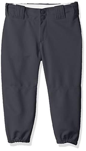 (Alleson Athletic Girls Fast pitch Softball Belt Loop Pants, Charcoal, Medium)