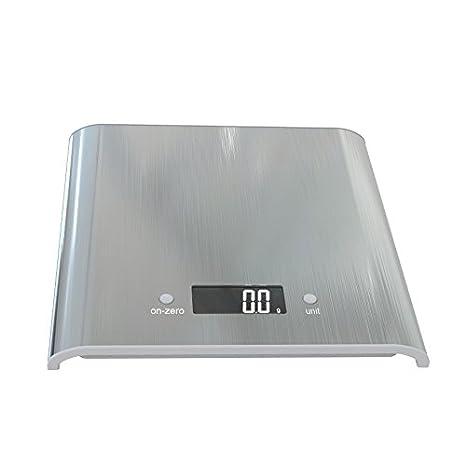 Zhrui Scales Foods - Balanza de Cocina portátil Digital, electrónica, electrónica, Blanca, Profesional, precisión, Cocina, báscula: Amazon.es