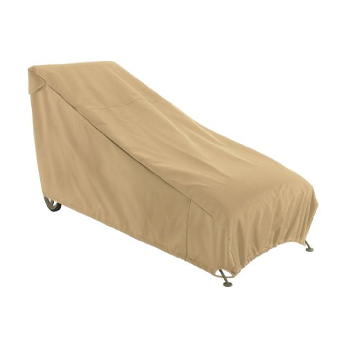 Classic Accessories Terrazzo Patio Chaise Lounge Cover, Medium (Stackable Ottoman)