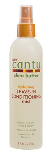 Cantu Shea Butter Hydrating Leave in Conditioning Mist, 8 Fluid Ounce (Best Moisturizer For Dry Relaxed Hair)