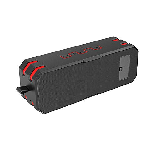 QAR Outdoor Wireless Bluetooth Speaker Portable Subwoofer Mini Card Small Stereo Stereo Waterproof Speaker Sound (Color : Black red)