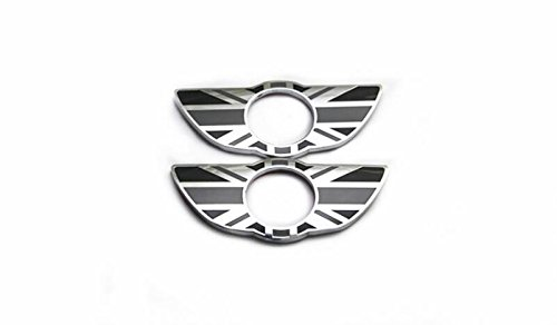 yuekuantai-1pair Gray Mini Metal Interior Door Lock Knobs Pin Wing Badge For Mini Cooper Countryman