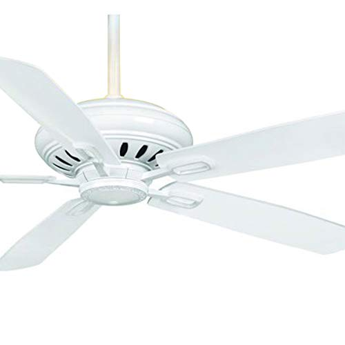 Casablanca Fan 60 inch Light Snow White Ceiling Fan with Inteli-Touch Wall Control - Halo Fan White Ceiling