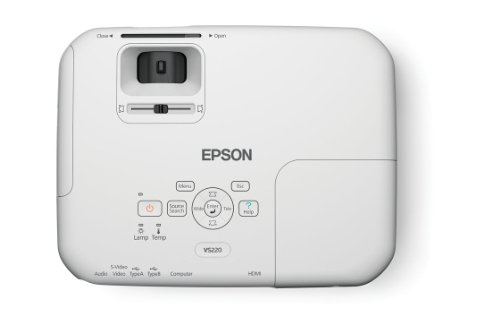 Epson VS220 SVGA 2700 lumens color brightness, 2700 lumens white brightness, HDMI, 3LCD Projector