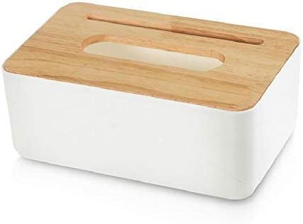 ROKF - Caja de Tela de bambú, Porta toallitas, Porta Papel higiénico, Organizador de la Caja de Almacenamiento para Sala de Estar, Dormitorio, baño, Oficina, decoración para la casa: Amazon.es: Hogar