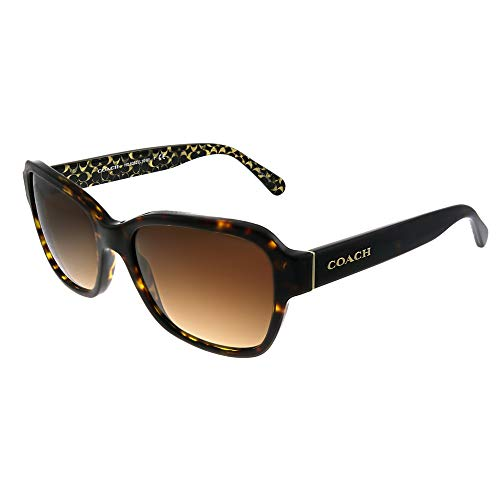 COACH Women's 0HC8232 56mm Dark Tortoise/Brown Gradient One ()