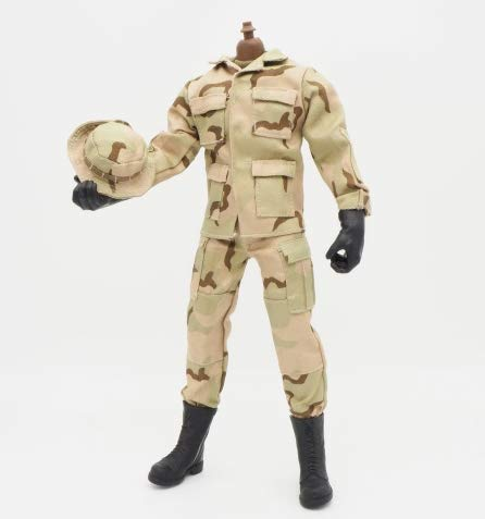 (1/6 Scale Brown Uniforms Clothes Soldier for 12