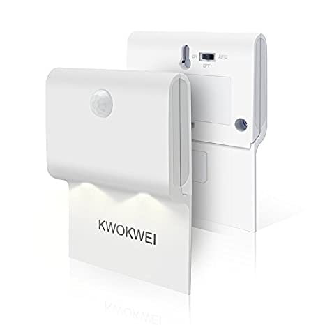 Lámpara LED para Pared, KWOKWEI Luz nocturna LED con sensor de movimiento y Sensor de