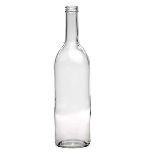 E.C. Kraus COMINHKPR22920 750 Ml Clear Wine Bottles, Screw Cap Finish