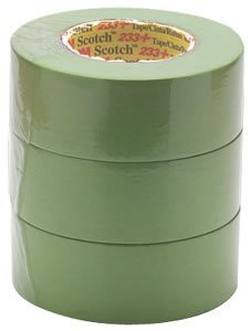 3M Scotch 233+ Performance Paper Masking Tape, 60 yds Length x 2'' Width, Green (Case of 12) by 3M Automotive Products