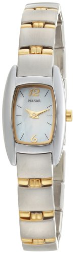 Pulsar Women's PJ5107 Dress Sport Mother of Pearl Two-Tone Stainless Steel Watch