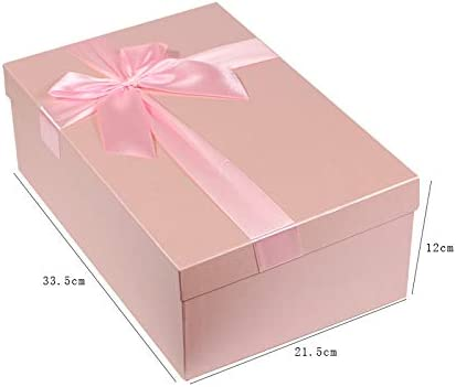 Huihuger - Juego de Cajas rectangulares de cartón para Joyas, Caja de cartón, Caja de Regalo con Lazo: Amazon.es: Hogar