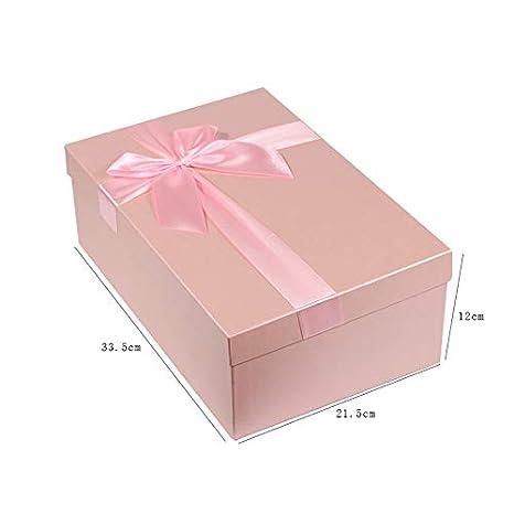 Arulinmz Elegante Cajas de Regalo Colgantes de la joyería del rectángulo Rosado Precioso de la cartulina con Bowknot: Amazon.es: Electrónica