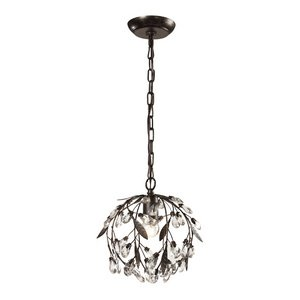 Elk Lighting 18133/1 Circeo Collection 1 Light Mini Pendant, Deep Rust from ELK Lighting