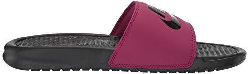 Nike Women's Benassi Just Do It Sandal, True Berry/Burgundy ash, 7 Regular US by Nike (Image #6)