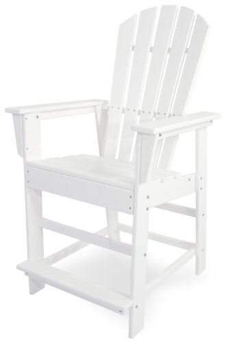 POLYWOOD SBD24WH South Beach Counter Chair, White