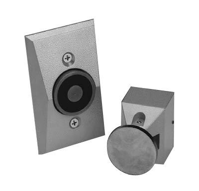Mount Door Holder Flush Wall (Dorma EM504-24120-689 Electromagnetic Door Holder Semi-Flush Wall-Mount)