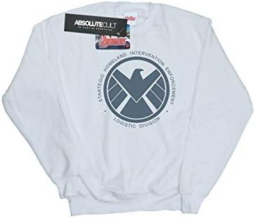 Marvel Herren Agents of S.H.I.E.L.D. Logistics Division Sweatshirt Weiß X-Large