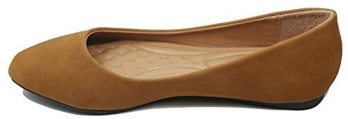 Womens Slip Ballet Walstar shoes On Womens Flat Ballet Flat Camel Walstar pH8HSq