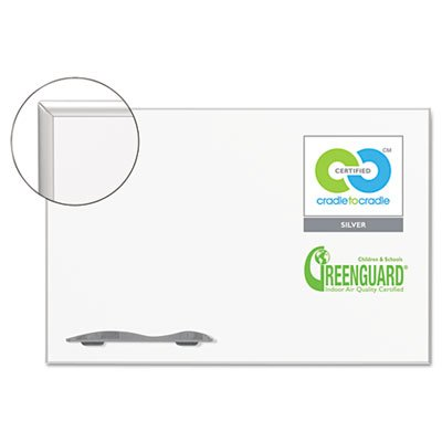 Ultra-Trim Magnetic Board, Dry Erase Porcelain/Steel, 48 x 33 3/4, White/Silver, Sold as 1 Each by Best-Rite (Image #3)