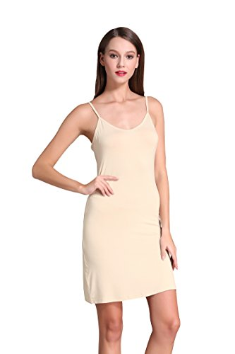 Coreal Women Long Spaghetti Strap Full Cami Slip Camisole Under Dress Liner